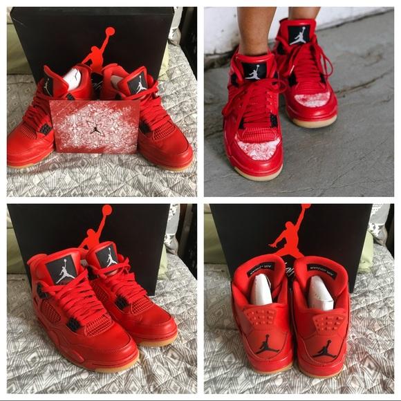 Women's Jordan 4 Retro Fire Red size 7.5